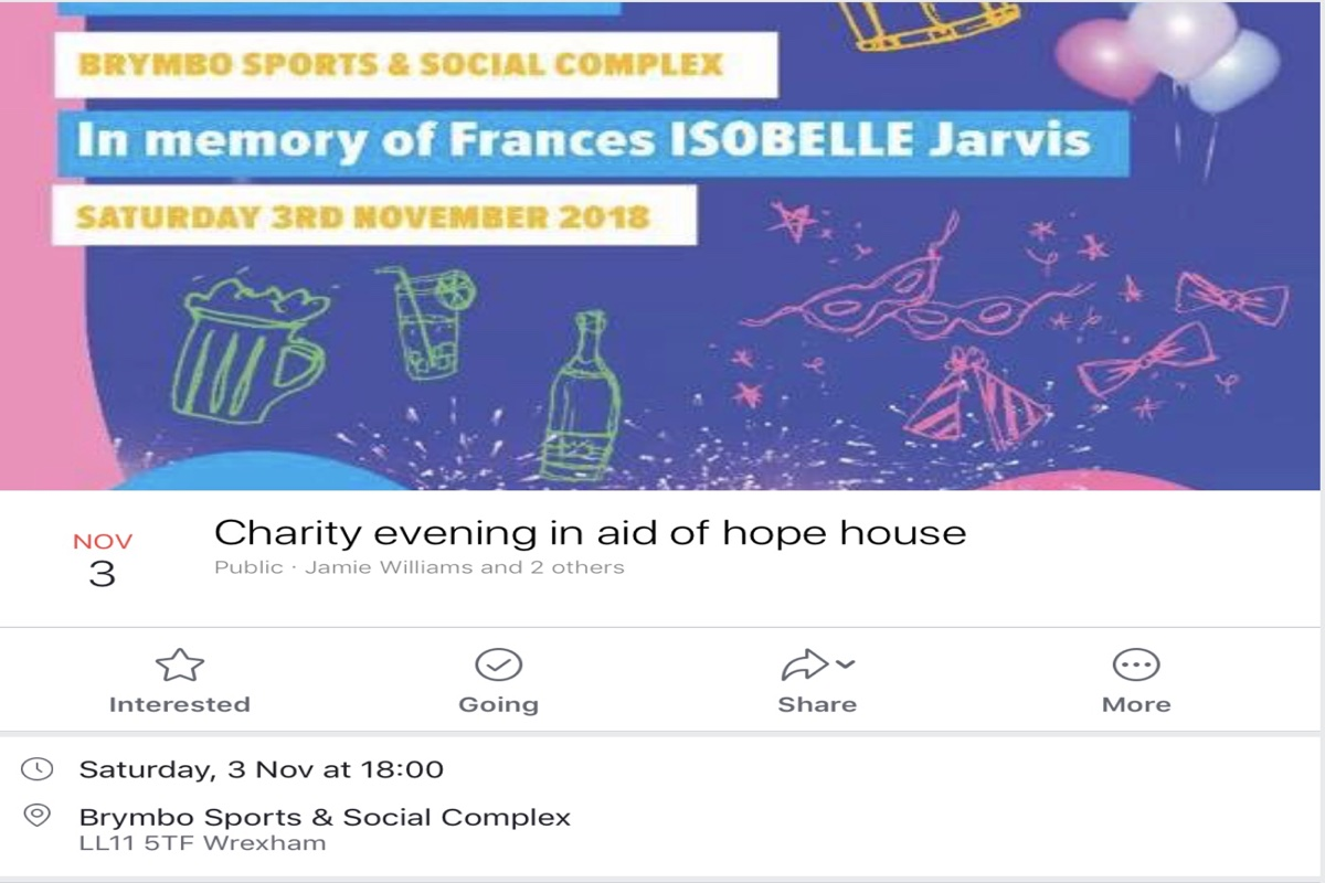 Charity evening in aid of Hope House, Hospice