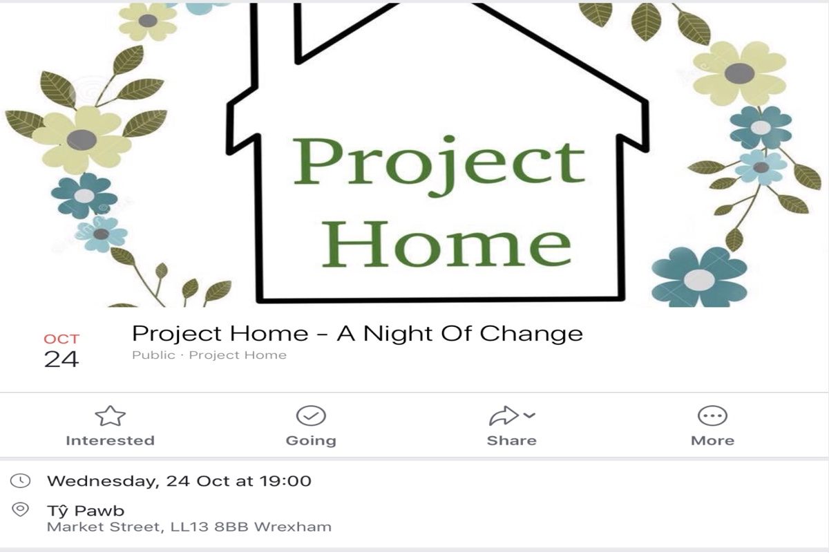 Project Home . A new Wrexham Homeless Project.